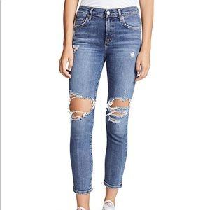 AGOLDE Sophie High Rise Skinny Crop Jean